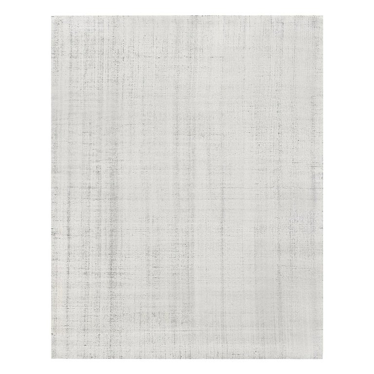 For Sale: Multi (Distressed Wool Ivory/Charcoal) Ben Soleimani Distressed Wool Rug 8'x10'