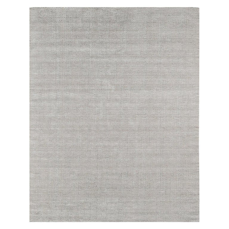 For Sale: Silver (Distressed Wool Platinum) Ben Soleimani Distressed Wool Rug 8'x10'
