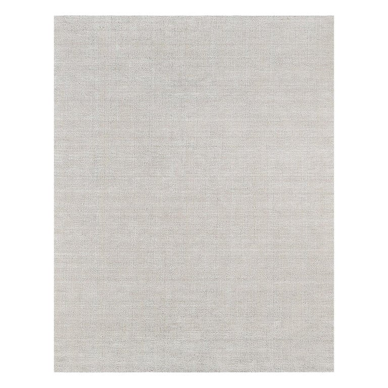 For Sale: Silver (Distressed Wool Silver) Ben Soleimani Distressed Wool Rug 8'x10'