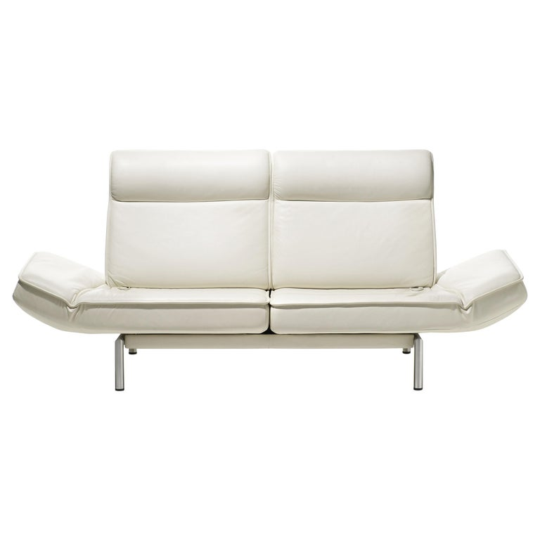 For Sale: White (Snow) DS-450 Adjustable Leather Modern Sofa or Armchair by De Sede