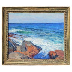 Impressionist Seascape Oil Painting by George Renouard