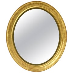 Louis Philippe Oval Framed Gilt Mirror (H 31 x W 27)