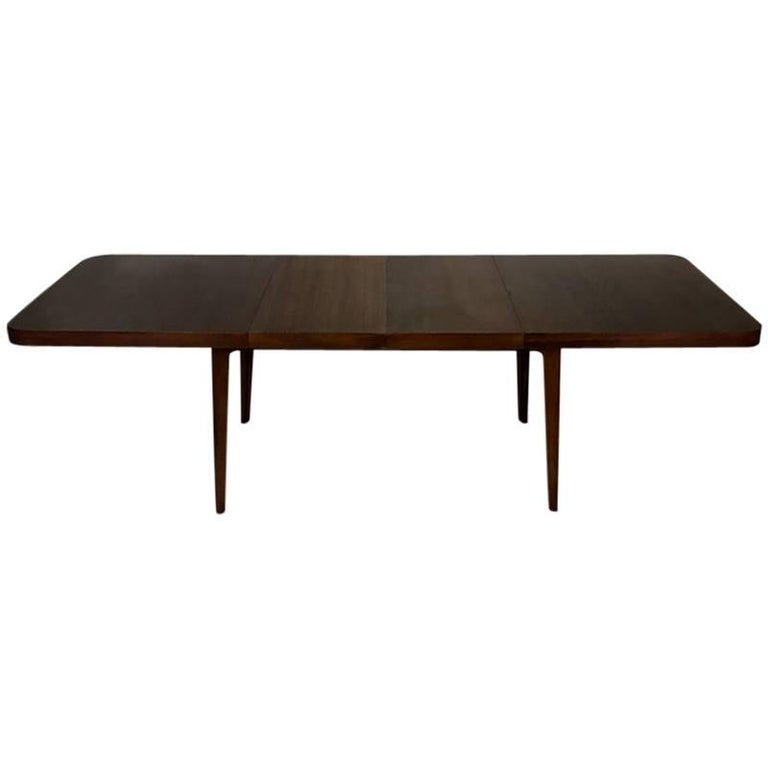 Stunning Midcentury Edward Wormley for Drexel Walnut Extension Dining Table