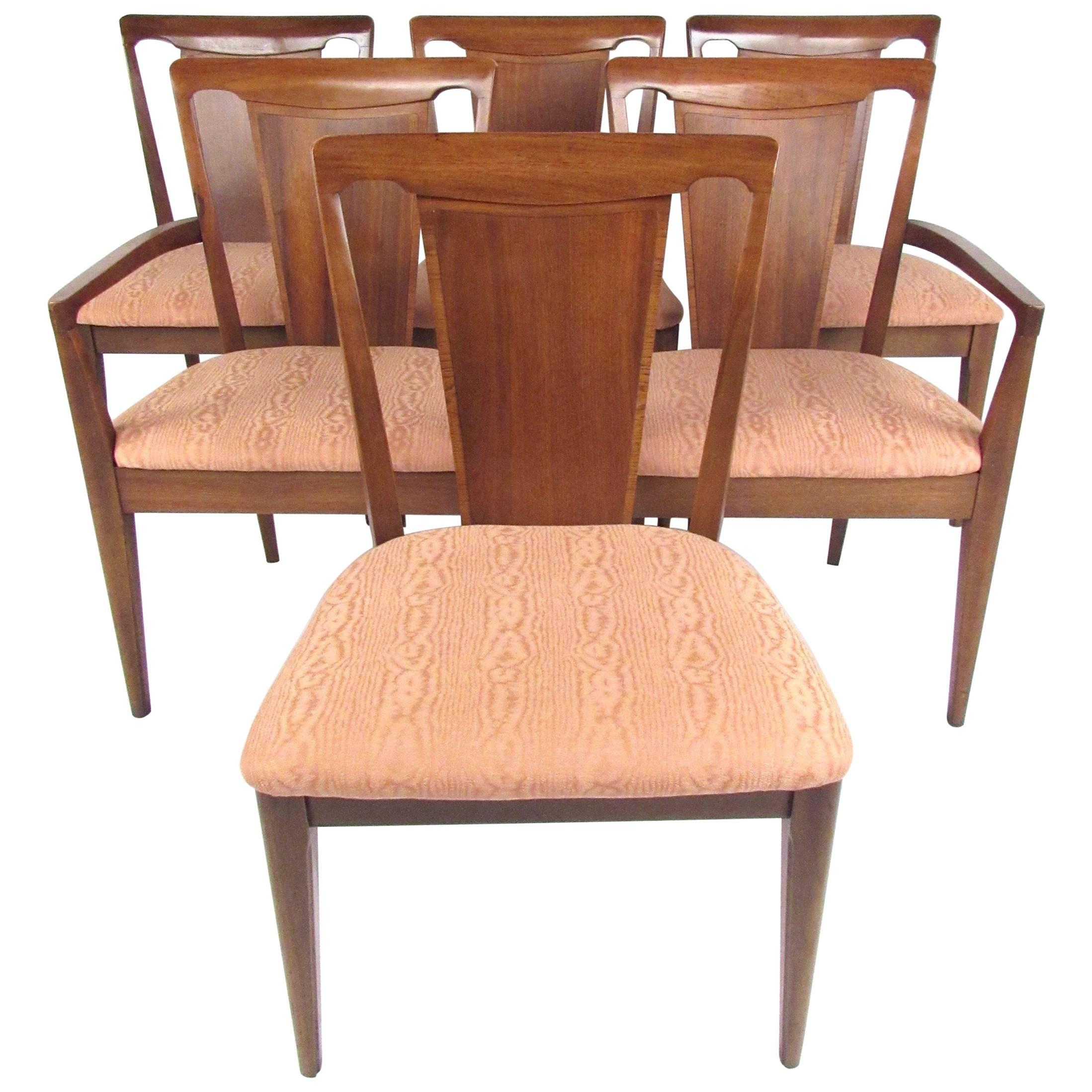 Set of Six Vintage Modern Dining Room Chairs