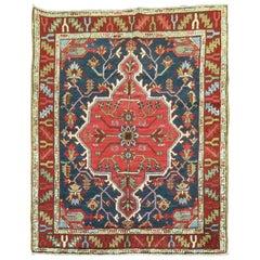 Persian Heriz Scatter Square Rug