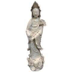 Fine Dehua, Blanc de Chine, Quan Yin Porcelain Figure