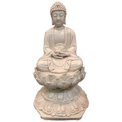 Blanc de Chine Porcelain Buddha Figure