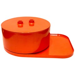 Rare Early Production Salad Bowl with Lid and Plater by Massimo Vignelli