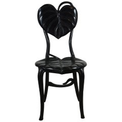 20th Century Carved Lotus Leaf Chair