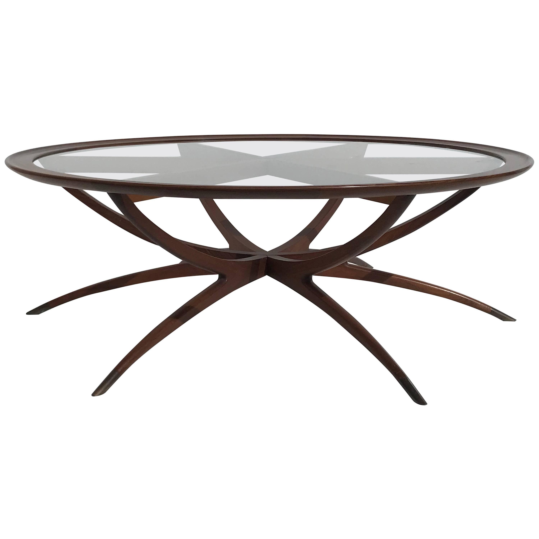 Danish Spider Leg Coffee Table Style of Carlo di Carli