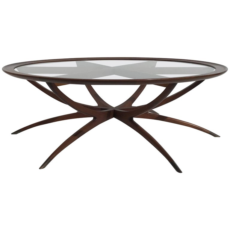 Danish Spider Leg Coffee Table Style of Carlo di Carli