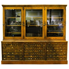 1920 Mercantile Merchandising Store Display Apothecary Hardware Cabinet