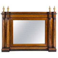 Italian Parcel Ebonized Walnut Mirror, 18th Century