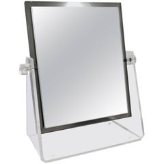 Vintage Lucite Adjustable Tabletop Mirror
