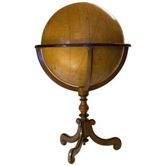 Colossal Terrestrian Globe Hand-Painted, French, First Half of 18th Century