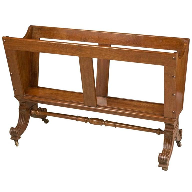 William IV Mahogany Folio Stand, High Quality Work, circa 1840
