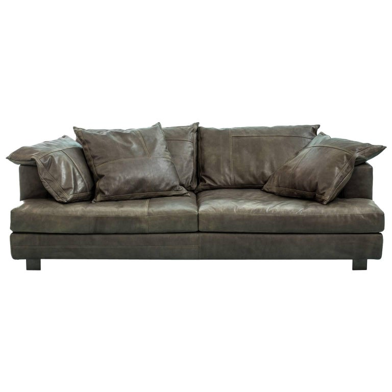 """Cloud Atlas"" Three-Seat Leather Sofa with Fiber or Goose by Moroso, Diesel"