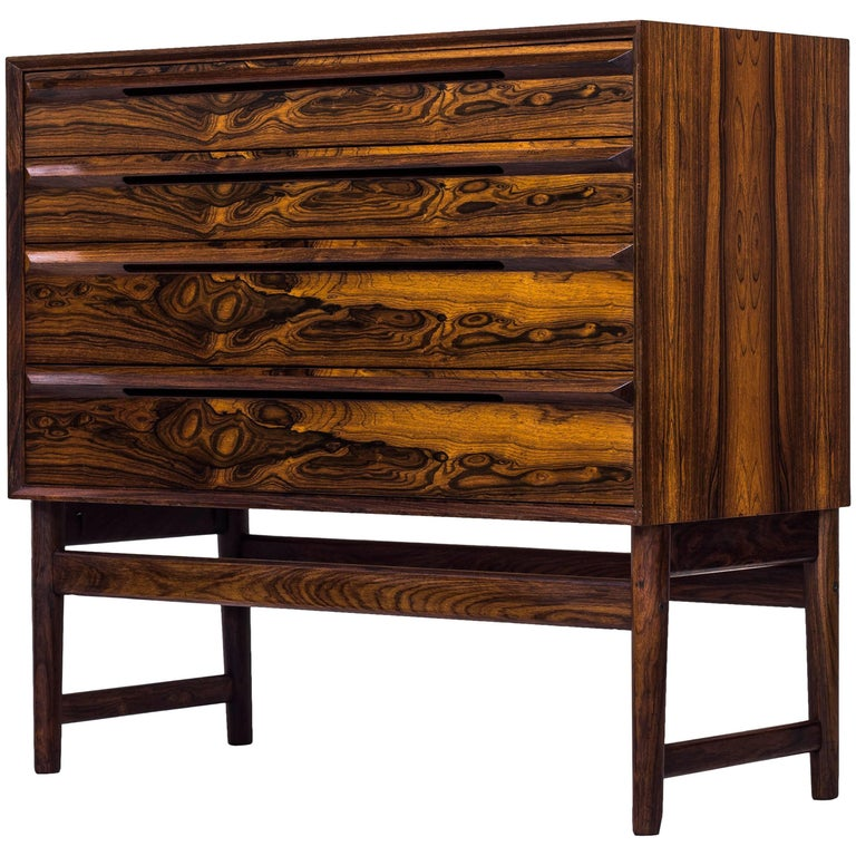 Palisander Chest of Drawers by Torbjørn Afdal, Norway, 1950s