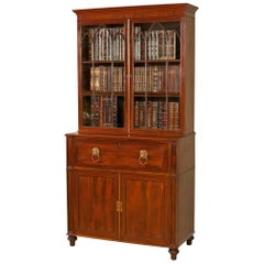 Early 19th Century Regency Mahogany Secretaire Bookcase
