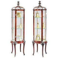 19th Century Pair of Circular Mahogany Display Cabinets