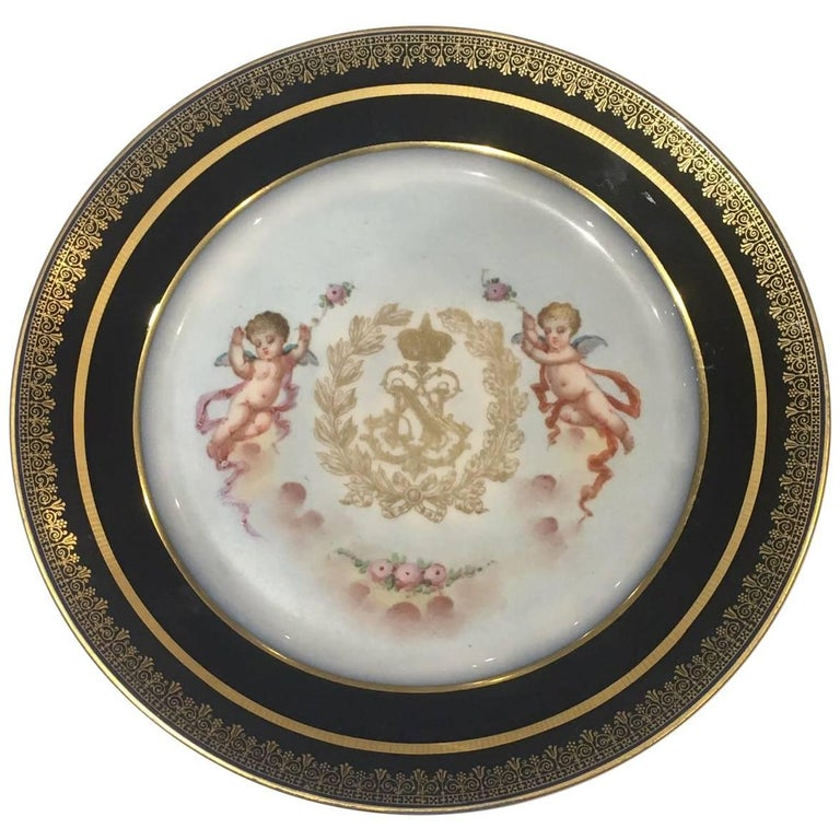 Stunning 19th Century Sevres Plate For Sale