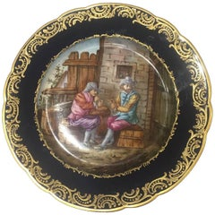 Beautiful Sevres Plate from the 19th Century, France