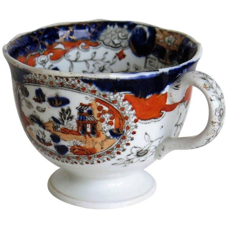 Mason's Ironstone Cup with Pekin Japan Pattern No. 303, 19th Century, circa 1835