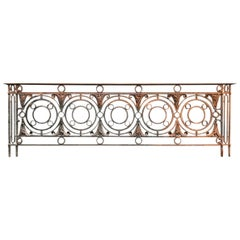 Arts & Crafts Style Victorian Decorative Cast Iron Railing or Balcony Banister