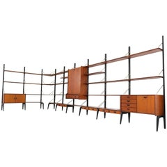 Large Freestanding Modular Wall Unit by Louis Van Teeffelen for Webe, 1950s