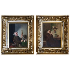 Wonderful Antique Pair of Portraits