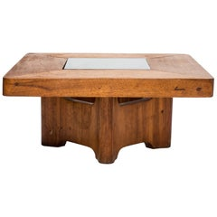 Center Table Carved in Solid Wood by Zanine Caldas