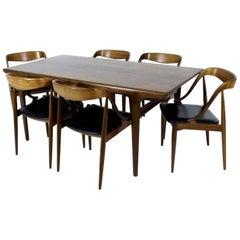 Scandinavian Modern Dining Set in Teak by Johannes Andersen for Uldum Møbler
