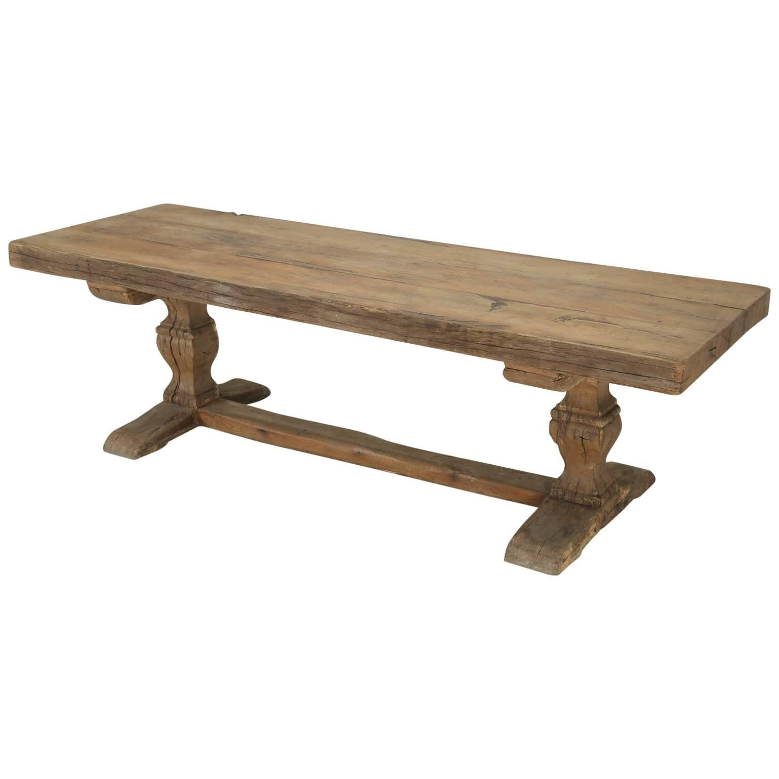 Antique French Trestle Table, Circa 300 Years Old For Sale