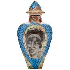 Contemporary Ma Rainey and Blind Tom Decorative Porcelain Urn