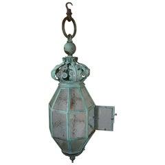 Very Large Decorative Copper Lantern