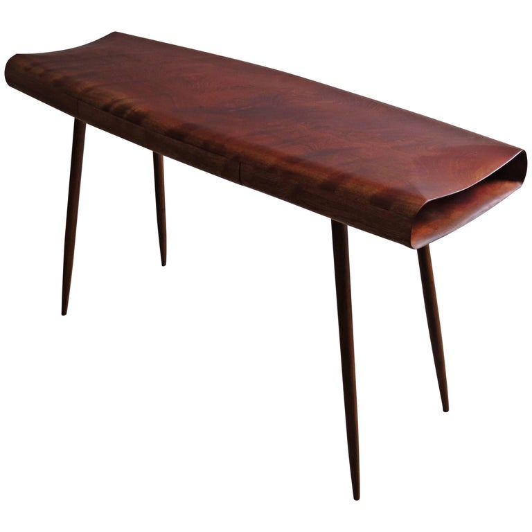 Solid Wood Desk Console Handmade in Organic Design