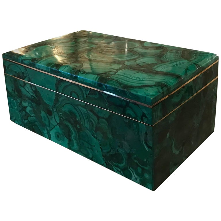 Art Deco Malachite Jewelry Box