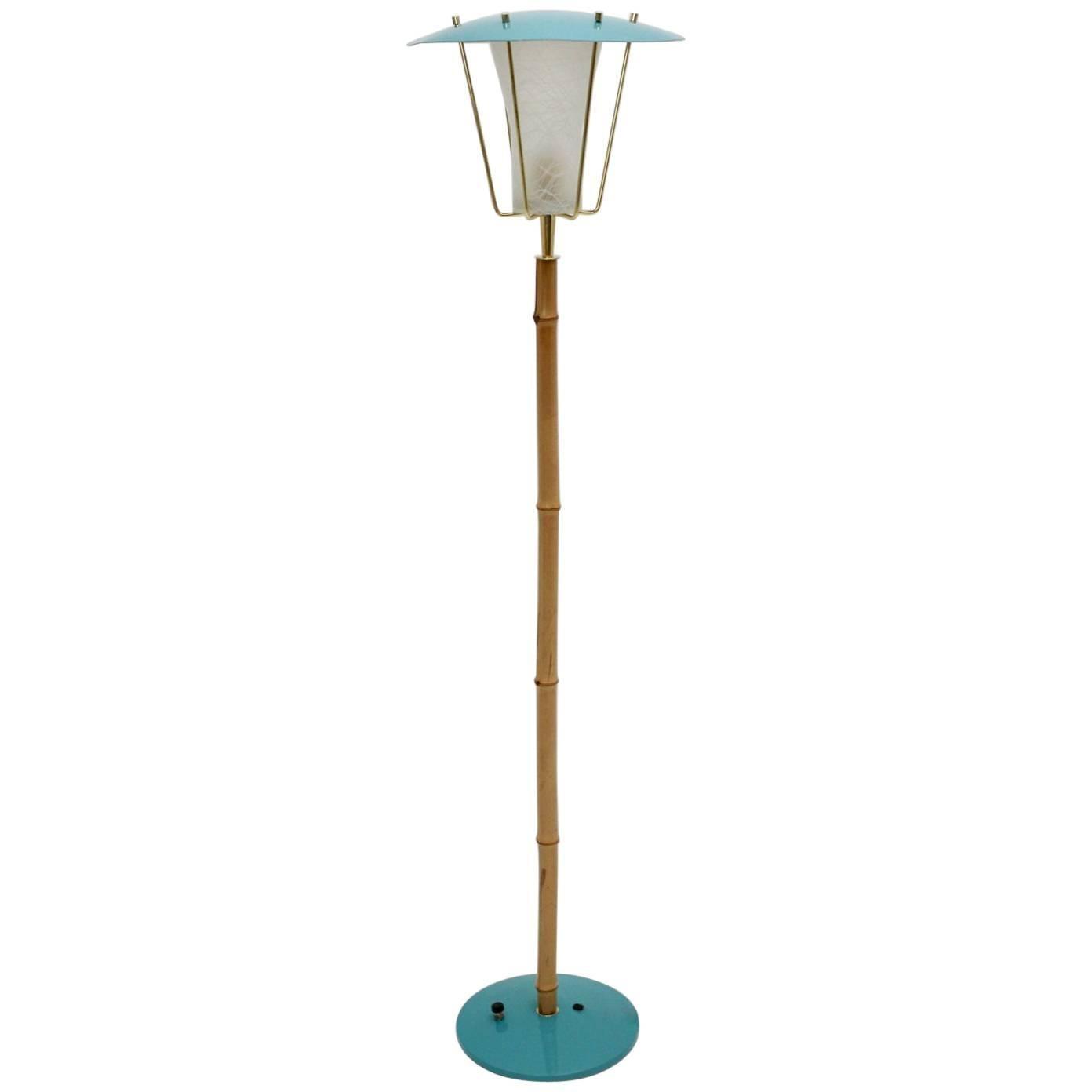 Bamboo Floor Lamp No 2081 Karla By Kalmar Circa 1960 Vienna