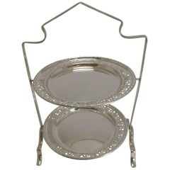Antique English Silver Plated Cake Stand, circa 1900