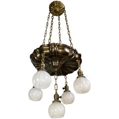 Five-Light Sheffield Chandelier with Shades