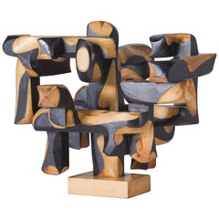 "Mario Dal Fabbro, ""No. 20"" Wood Sculpture, United States, C. 1980"