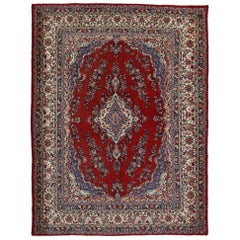 Vintage Persian Hamadan Rug with Traditional Style