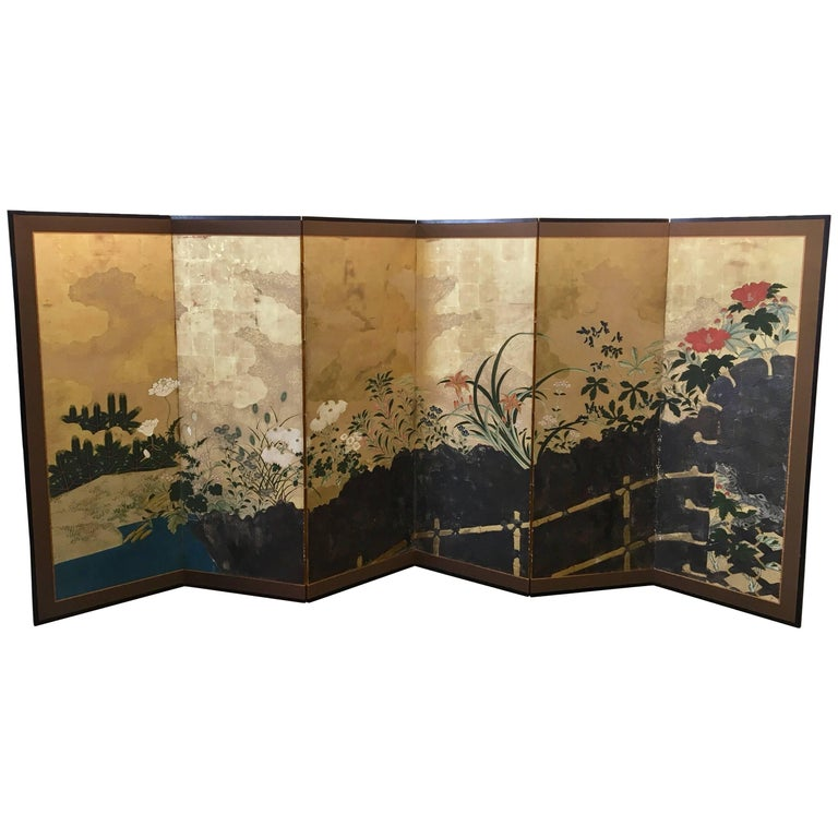 19th Century Six-Panel Screen For Sale