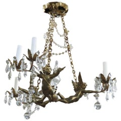 French Regency Style Putti Chandelier