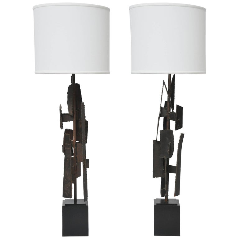 Brutalist Sculpture Lamps by Harry Balmer For Sale
