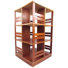Scandinavian Modern Swivel Bookshelf