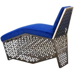 Modern Petite Chaise Lounge Chair by Rehab Vintage, Custom Made to Order