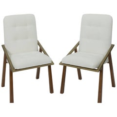 Modern Dining Chair with Tufted Back