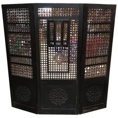 19th Century Moroccan Wood Screen