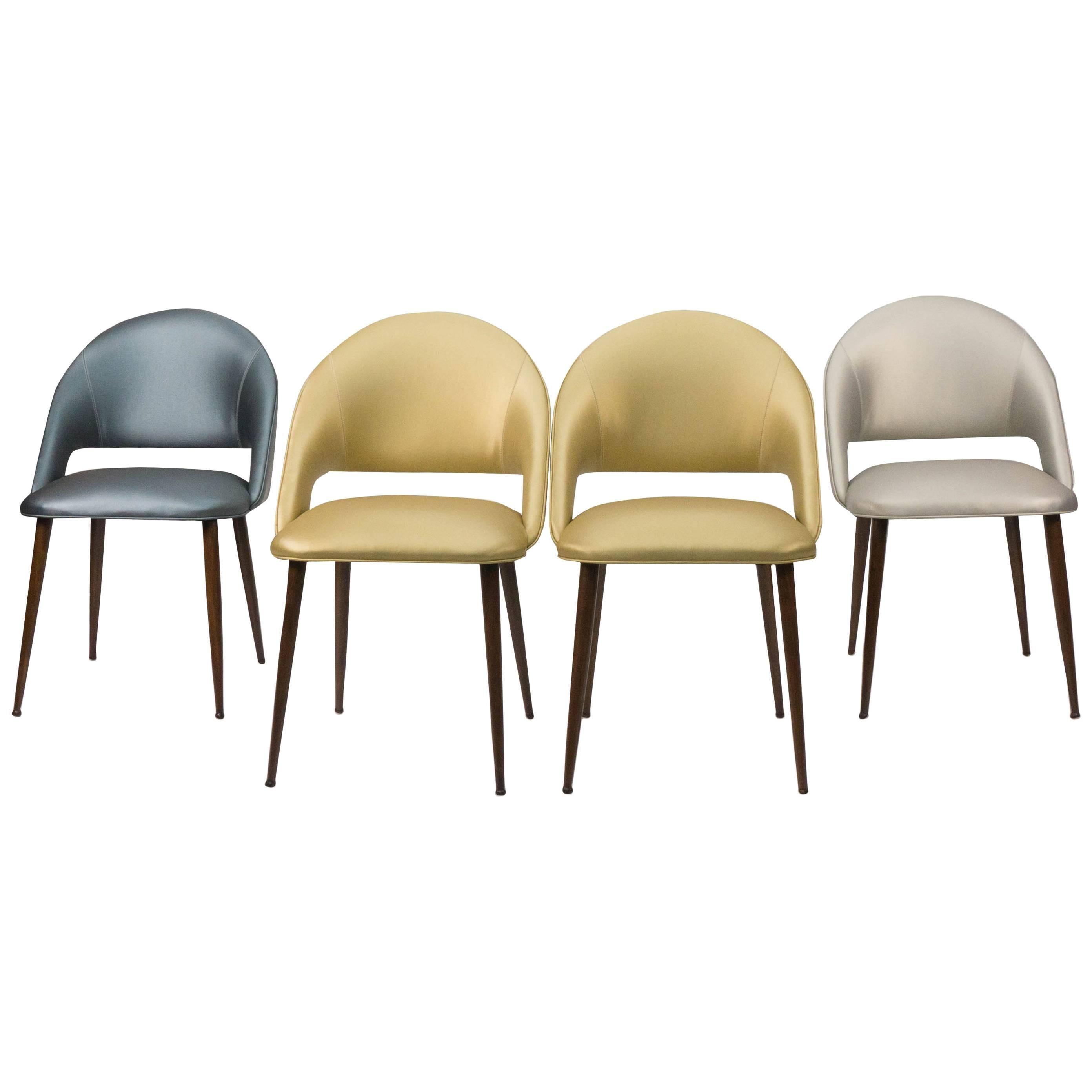 Art Deco Vinyl Dining Chairs